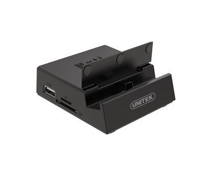 Picture of UNITEK USB-C Desktop Multimedia Docking Station. 3x USB2.0 Ports,