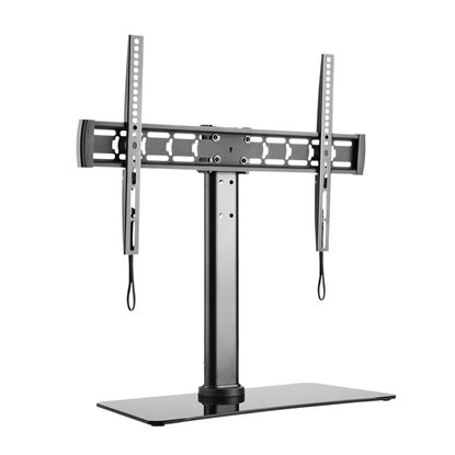 Picture of BRATECK 32'-55' TV Desk Stand with Glass Base. Height Adjustable with