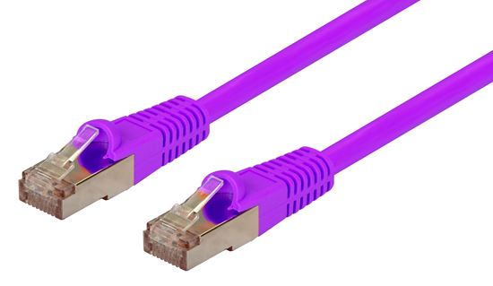 Picture of DYNAMIX 0.75m Cat6A Purple SFTP 10G Patch Lead. (Cat6 Augmented) 500MHz
