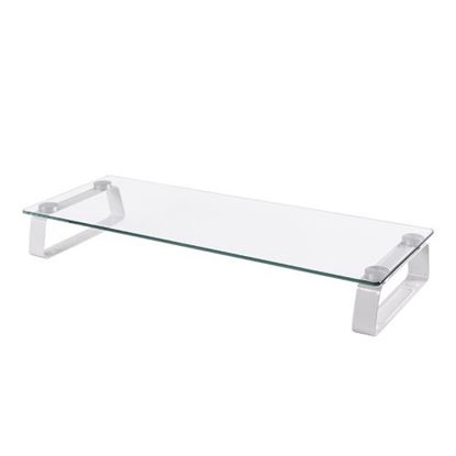 Picture of BRATECK Universal Table top monitor Riser. Non-skid silicone pads