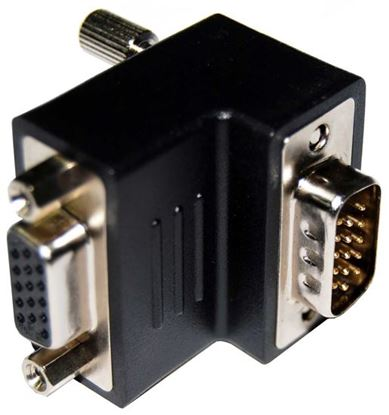 Picture of DYNAMIX VGA Right Angled Adapter HDB15 Male to Female