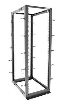 Picture of DYNAMIX 27U 4 Post Depth Adjustable open Frame rack, Depth