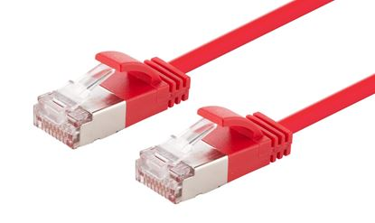 Picture of DYNAMIX 1m Cat6A S/FTP Red Slimline Shielded 10G Patch Lead