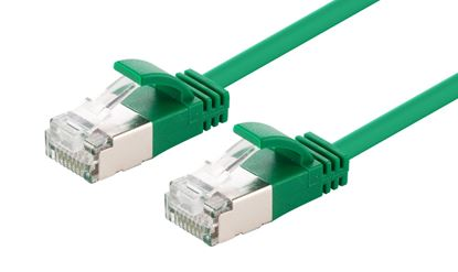 Picture of DYNAMIX 3m Cat6A S/FTP Green Slimline Shielded 10G Patch Lead
