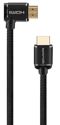 Picture of PROMATE 5m 4K HDMI right angle Cable. 24K Gold plated. High-speed