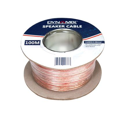 Picture of DYNAMIX 50m 14AWG/2.08mm Speaker Cable, OFC 51/025BCx2C,