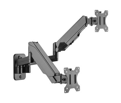 Picture of BRATECK 17'-32' Dual Screen Wall Mounted Gas Spring Monitor Arms.