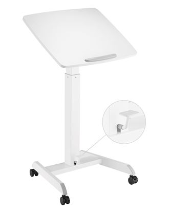 Picture of BRATECK Height Adjustable Mobile Workstation with Foot Pedal &