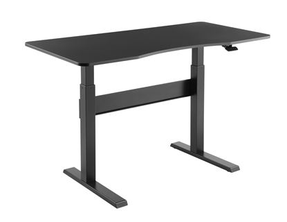 Picture of BRATECK Height Adjustable Air Lift Sit-Stand Desk. Includes Desktop.