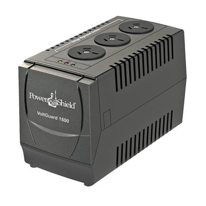 Picture of POWERSHIELD VoltGuard AVR 1500VA / 750W with 3x 3 Pin Outlet Sockets.