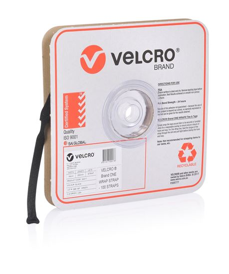 Picture of VELCRO One-Wrap 19mm x 200mm Pre-sized Ties. 100 Ties per Roll.