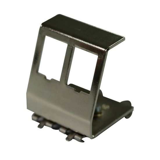 Picture of DYNAMIX 2 Port Keystone to DIN Mount Metal Adapter Plate