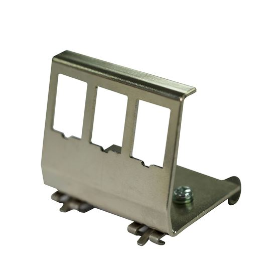 Picture of DYNAMIX 3 Port Keystone to DIN Mount Metal Adapter Plate