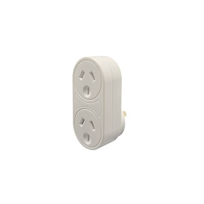 Picture of JACKSON Vertical Double Adaptor with 4,500A Surge Protection.
