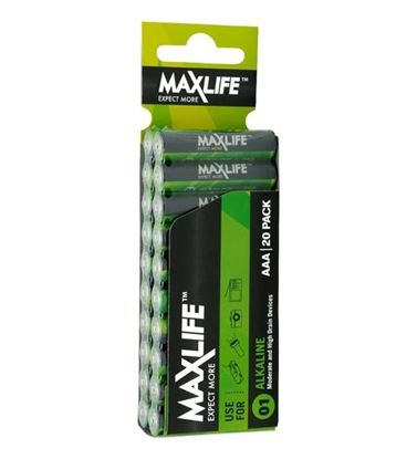 Picture of MAXLIFE AAA Alkaline Battery 20 Pack