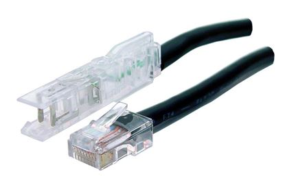 Picture of DYNAMIX 0.5m 1x Pair 110/RJ45 Cat5e Patch Lead: Default Black, A spec