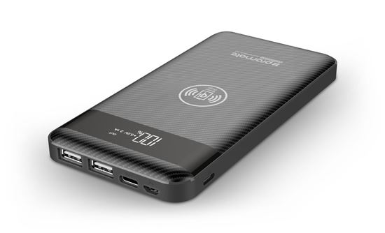 Picture of PROMATE 10000mAh Wireless Charging Qi Power bank with LED display.