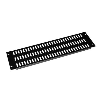 Picture of DYNAMIX AV Rack 3RU metal blanking panel with vented holes, with