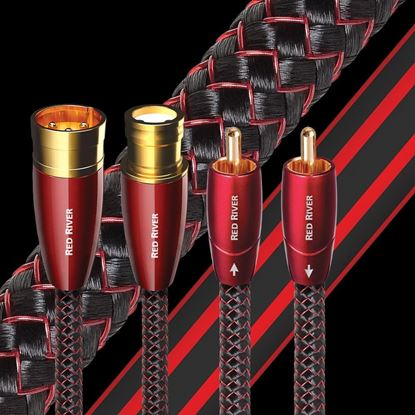 Picture of AUDIOQUEST Red River 1M  1 to 1 RCA male. Solid perf surface copper