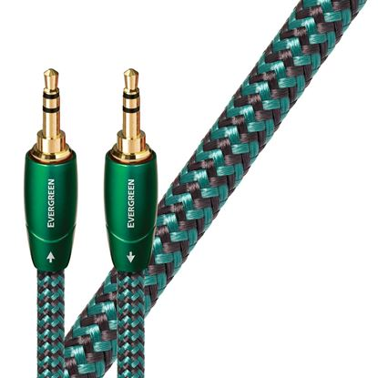 Picture of AUDIOQUEST Evergreen 1M 3.5mm M to 3.5mm M. Solid Long Grain Copper.