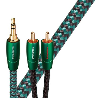 Picture of AUDIOQUEST Evergreen 8M 3.5mm to 2 RCA. Solid Long Grain Copper