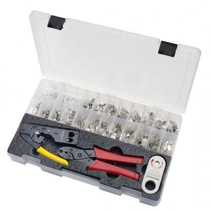 Picture of PLATINUM TOOLS 10G Termination Kit. Kit includes: Tele-Titan crimp tool