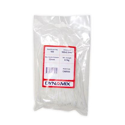Picture of DYNAMIX 100mm x 2.5mm Cable Tie (Packs of 100)