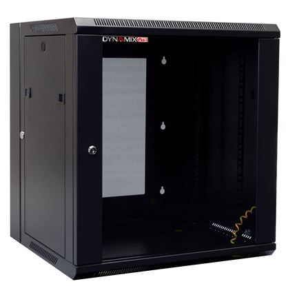 Picture of DYNAMIX LITE 12RU Swing Wall Mount Cabinet. Right hand mounted. The