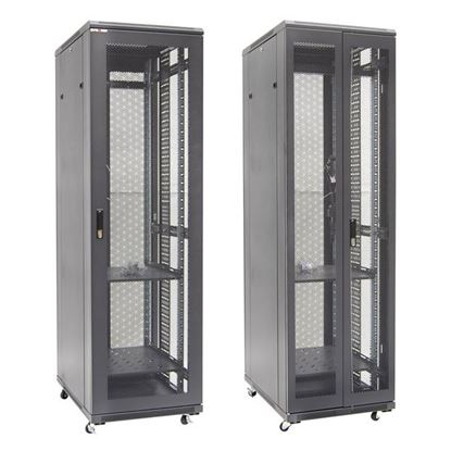 Picture of DYNAMIX 42RU Server Cabinet 800mm Deep Front Mesh Door, Rear Mesh