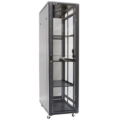 Picture of DYNAMIX 42RU Server Cabinet 1000mm Deep (600x1000x2077mm). FLAT PACK