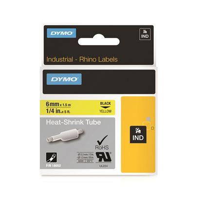 Picture of DYMO Genuine Rhino Industrial Labels- HeatShrink Tube 6mm Black