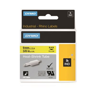 Picture of DYMO Genuine Rhino Industrial Labels- Heat Shrink Tube 9mm Black