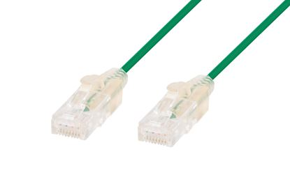 Picture of DYNAMIX 0.25m Cat6A 10G Green Slimline Component Level UTP