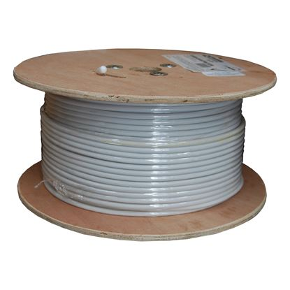 Picture of 152m Roll RG6 Shielded Cable. White 75ohm. 18AWG solid core.