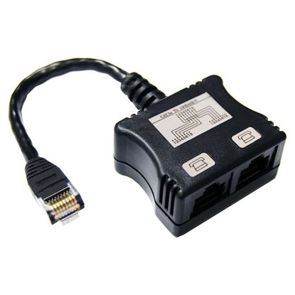 Picture of DYNAMIX RJ45 Dual Adapter (2x Digital Ph.) with short cable