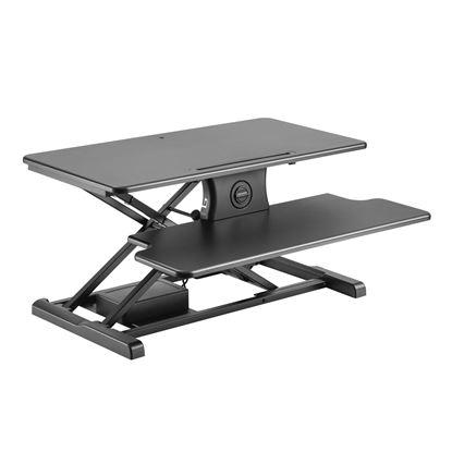 Picture of BRATECK Electric Scissor Lift Desktop Sit-Stand Workstation.