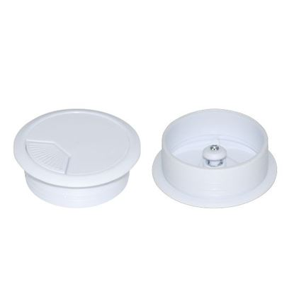 Picture of DYNAMIX 60mm Round Desk Grommet. Easily & Neatly Store your Power,