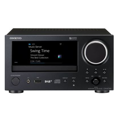 Picture of ONKYO Network CD Receiver. Ethernet music streaming. Easy