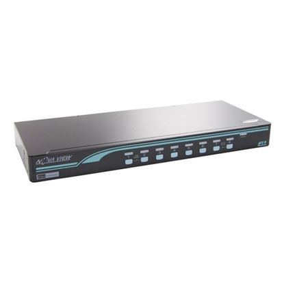 Picture of REXTRON 8 port DVI USB KVM Switch with OSD and hot keys.