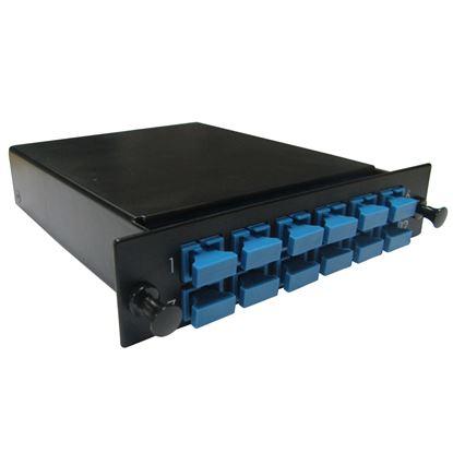 Picture of DYNAMIX MPO SM 12 Port SC Simplex Single-mode 12 Fibre Cassette.