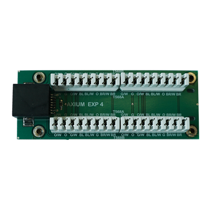 Picture of AXIUM IR receiver CatX punchdown expander for connecting 4 remote