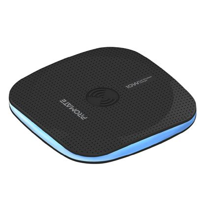 Picture of PROMATE Ultra-Fast 10W Wireless Slim Charging Pad with LED Light.