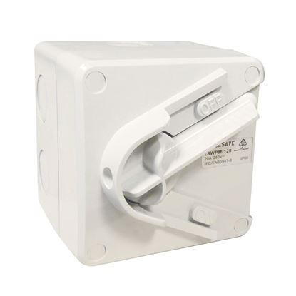 Picture of TRADESAVE Weatherproof Mini Isolator 1 Pole 240V 20A.