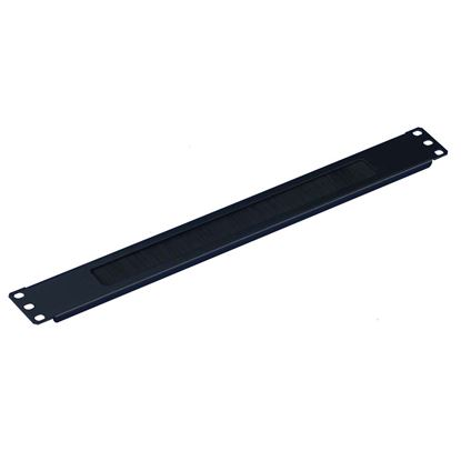 Picture of DYNAMIX 1RU 19' Brush Cable Management Bar. Black Colour.
