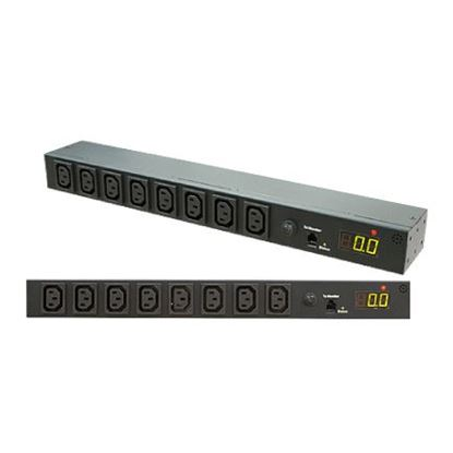 Picture of DYNAMIX 8 Port 16A Metered PDU. Power Monitoring by True RMS Meter