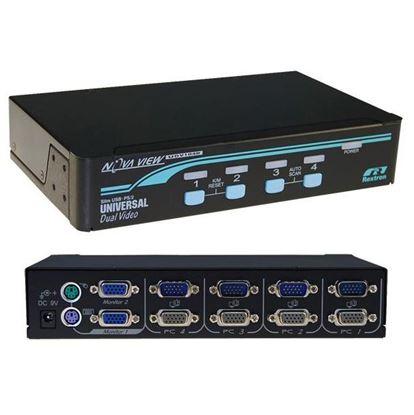 Picture of REXTRON 1-4 USB/PS2 Dual Video (VGA) KVM Switch. 4x 1.8m USB