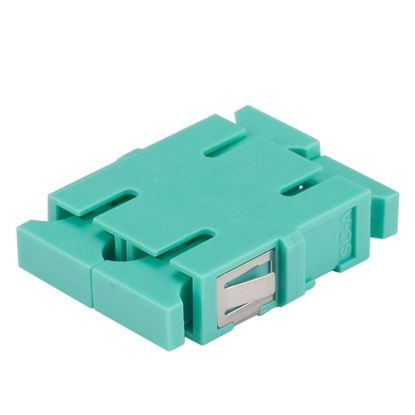 Picture of DYNAMIX Adapter SC Duplex MM Aqua Flangeless