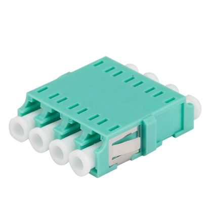 Picture of DYNAMIX Adapter LC Quad MM Aqua Flangeless