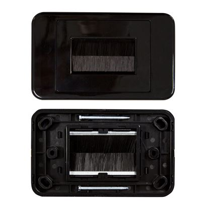Picture of DYNAMIX AV Brush Plate. Ideal for Streamlining your Home Theater,