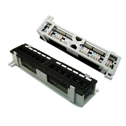 Picture of DYNAMIX Mini 12 Port Patch Panel, Cat5e T568A & T568B Wiring